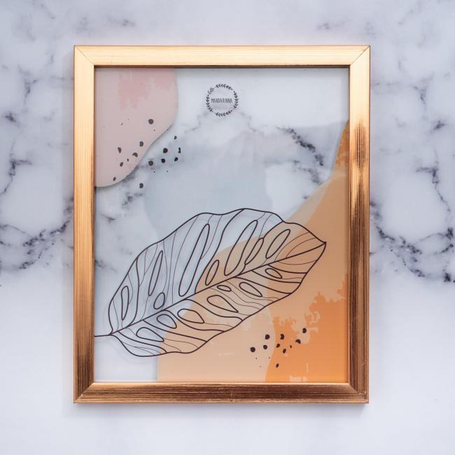 Cuadro-transparente-hoja-oro-rosa-mandarinna